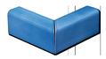 Carrelage - Décoration - Cornière 6 x4 biseautée angle sortant pose inversée- Cuisine - Salle de Bains - Faïence de Provence à Salernes