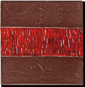 carrelage dcoration frise 13 lichen motif design faence de provence - Salle De Bain Frise Rouge